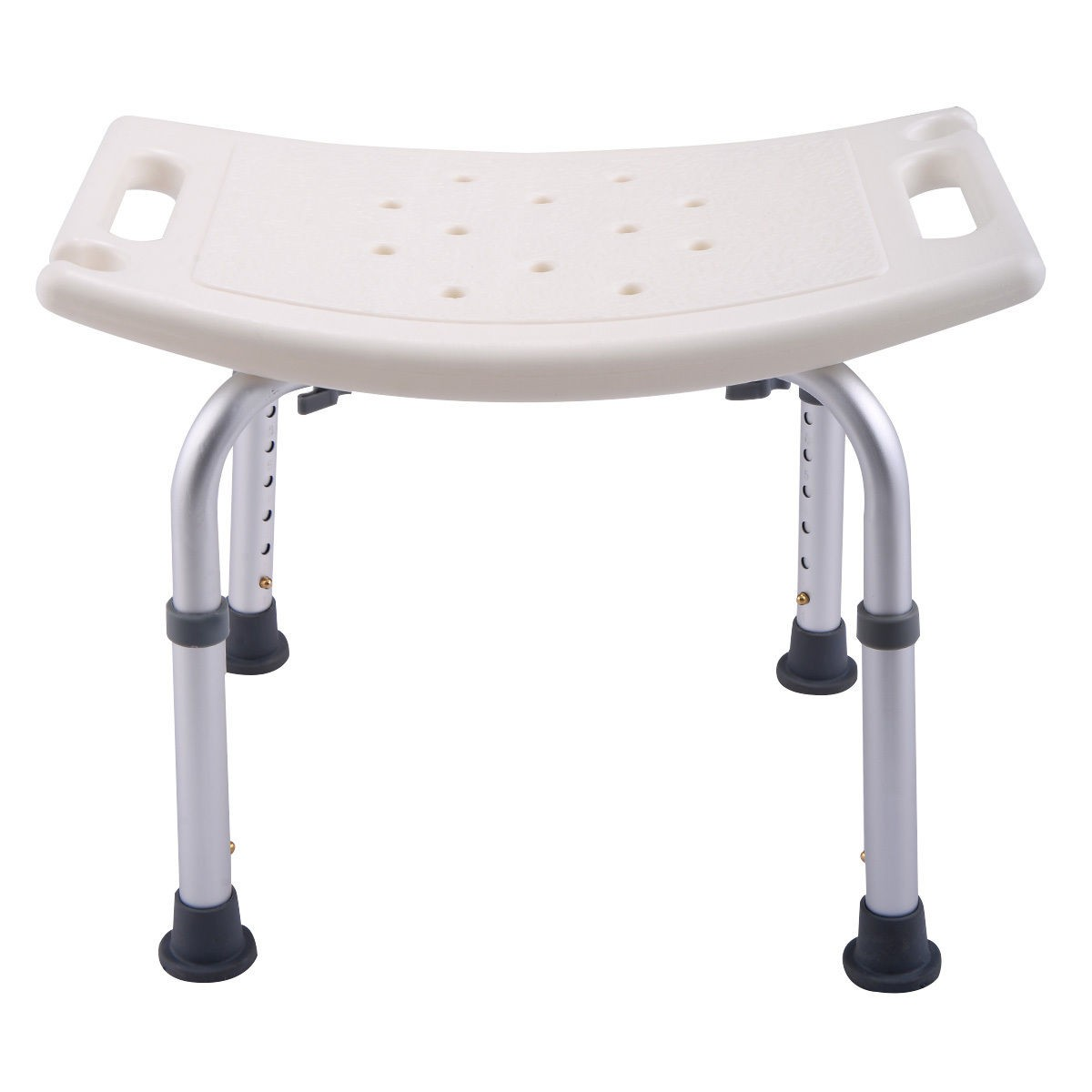 6 height adjustable bath shower chair medical seat stool for White bathroom stool