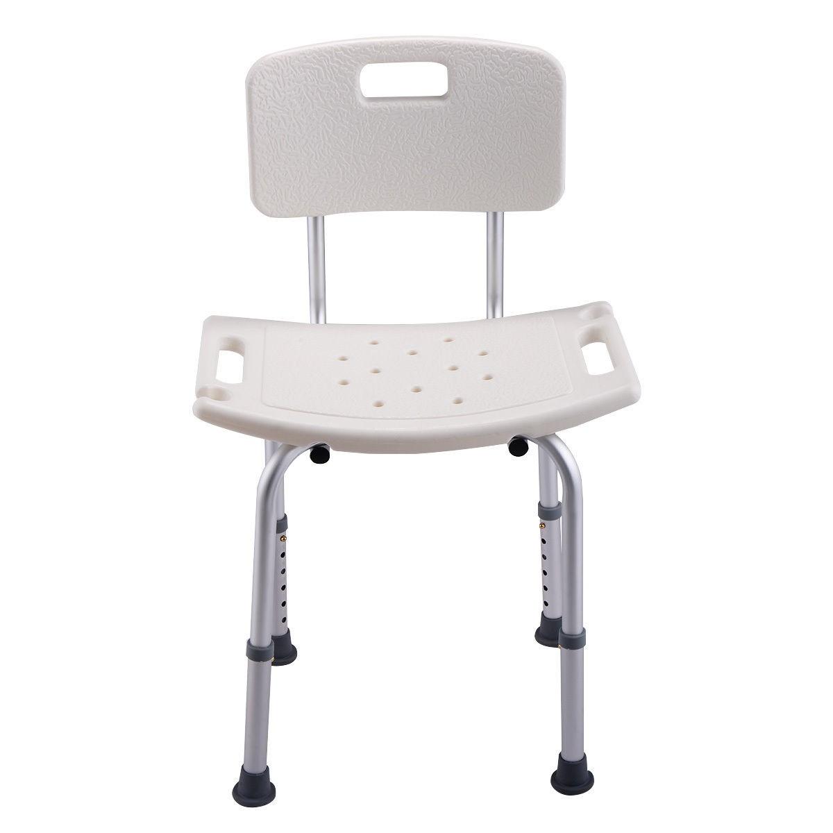 Adjustable 6 height bathroom bath shower chair medical for White bathroom stool