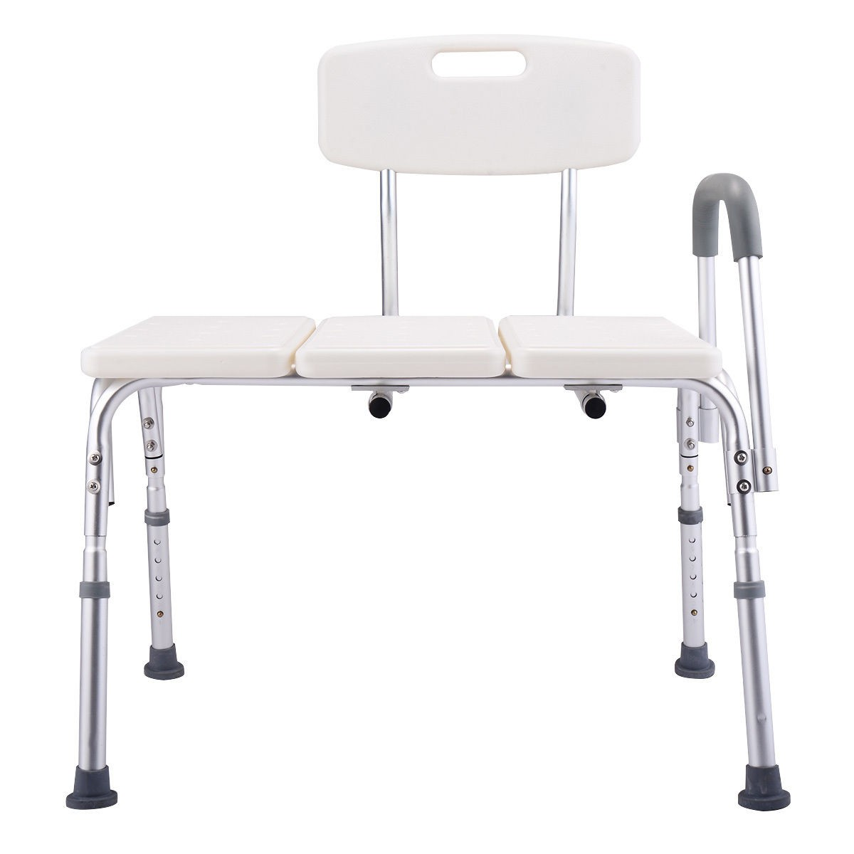 10 Height Adjustable Medical Shower Chair Bath Tub Bench Stool Seat Back And Arm