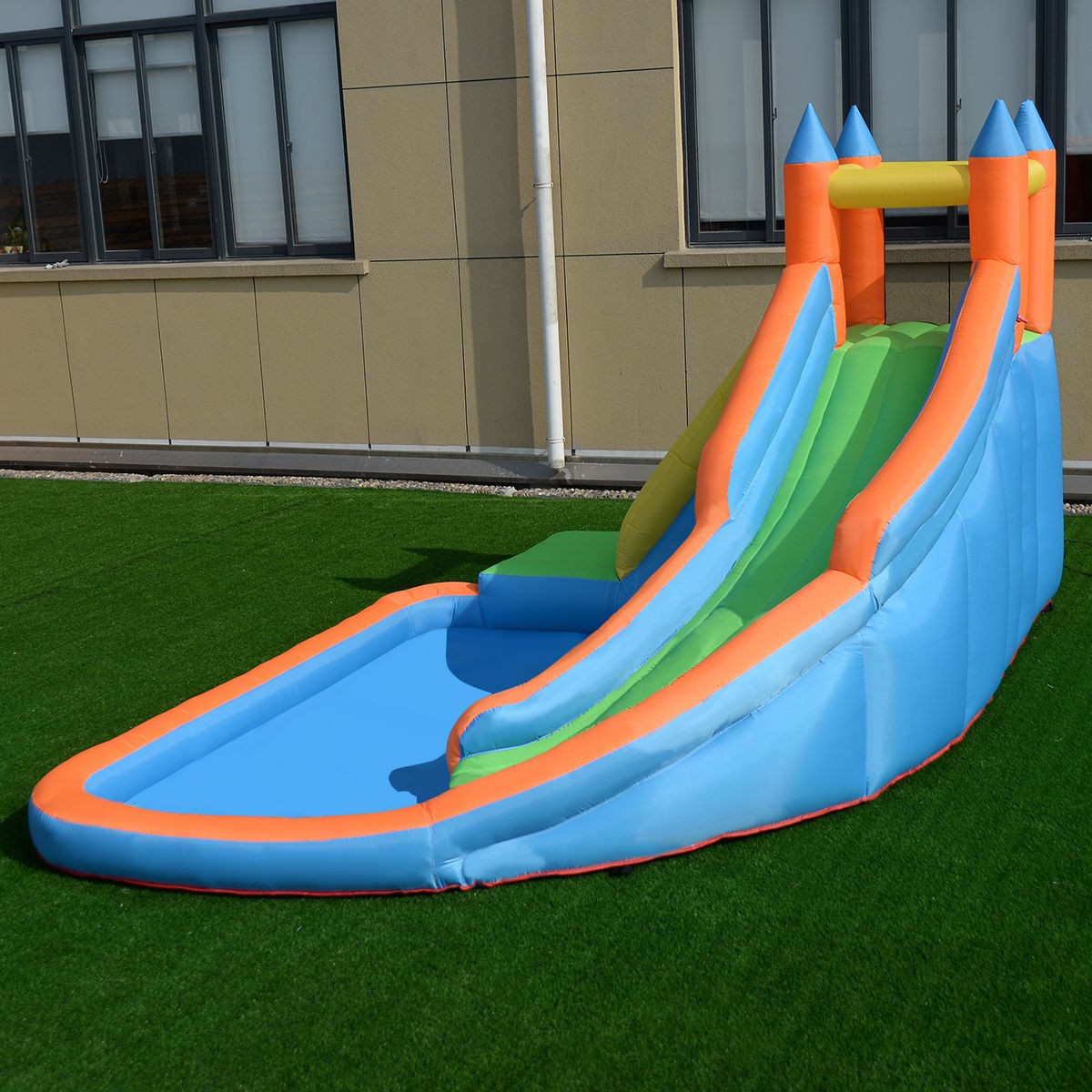 Inflatable Slide Blower: Inflatable Castle Mighty Bounce House Jumper Moonwalk