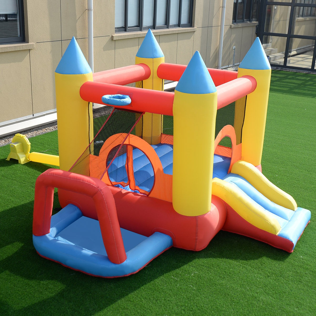 Inflatable Slide Blower: Castle Bounce House Inflatable Water Slide Mighty Jumper