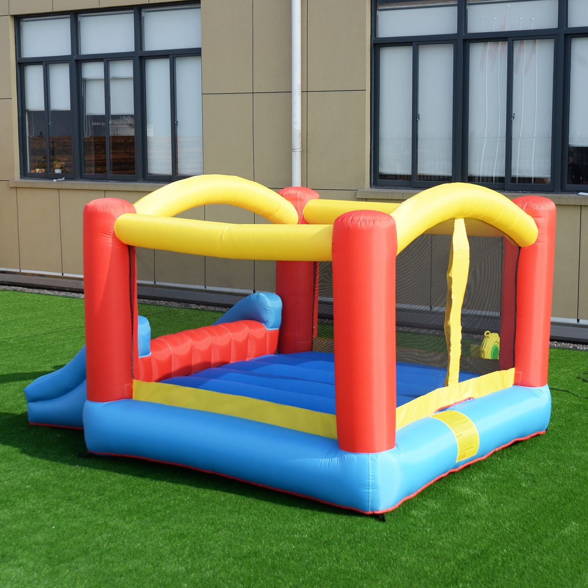 Inflatable Slide Blower: Mighty Bounce House Inflatable Castle Moonwalk Without