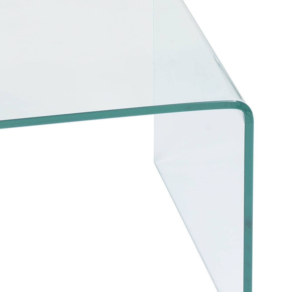 New Tempered Glass Coffee Table Accent Cocktail Side Table Living
