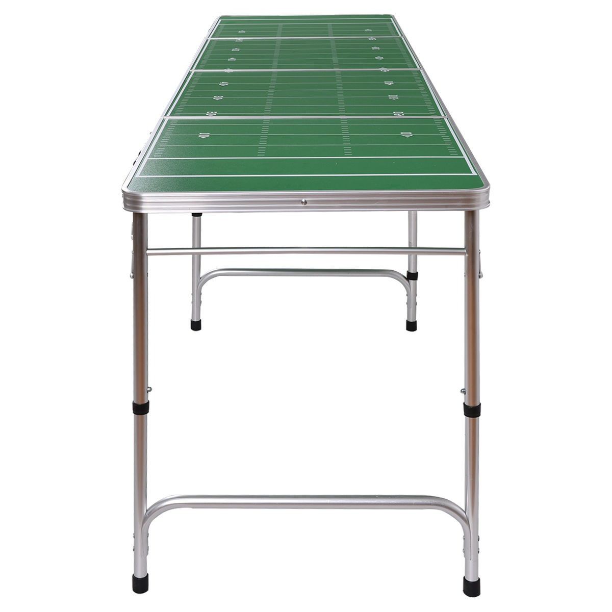 Ys 8ft aluminum portable folding beer ping pong table - What is the size of a ping pong table ...