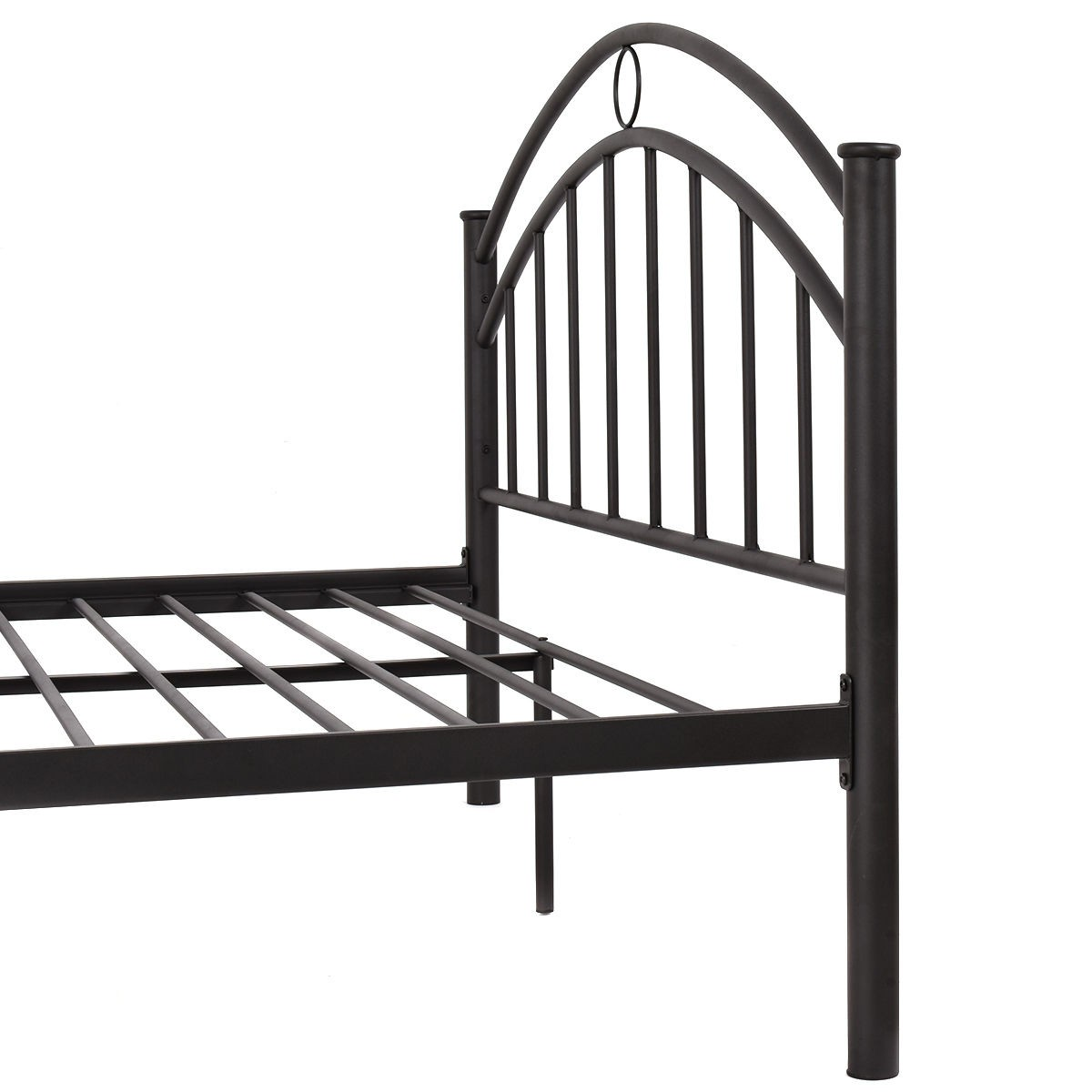 us queen size metal bed frame mattress platform headboard bedroom high quality. Black Bedroom Furniture Sets. Home Design Ideas