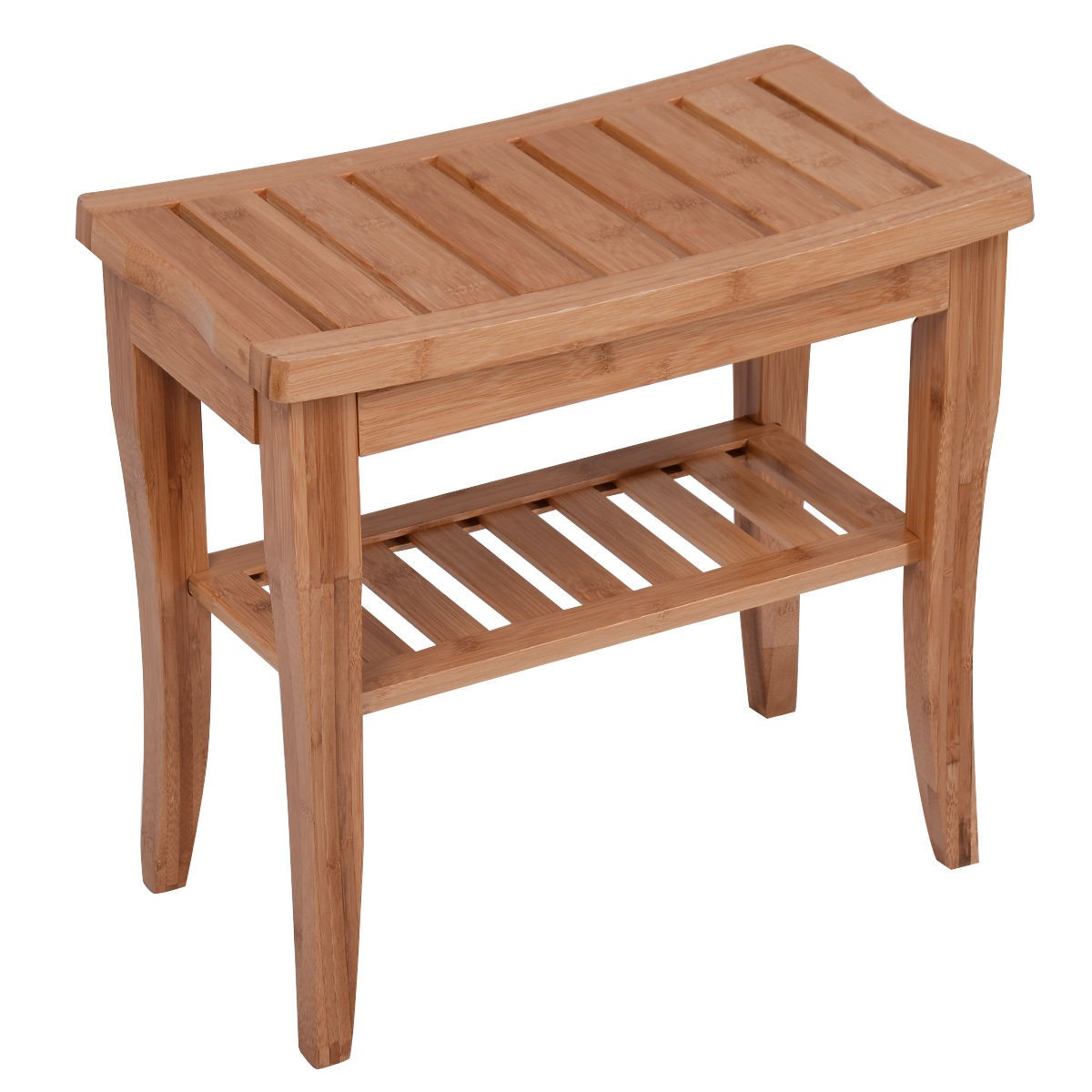 Wood Medical Spa Storage Bamboo Shower Bench Safety Bath Seat Chair Stool Salon Ebay