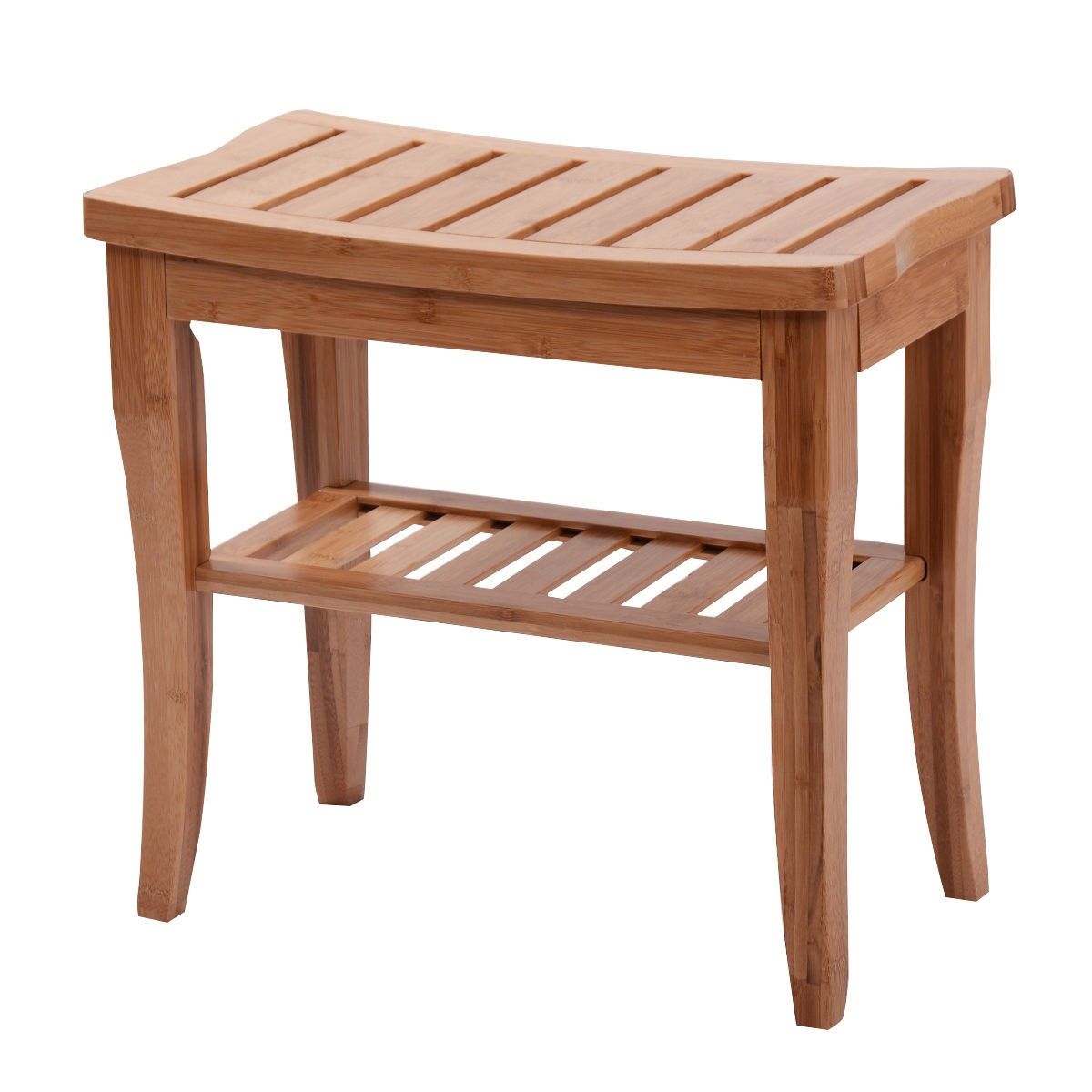 Us Medical Spa Storage Bamboo Shower Bench Bath Seat Chair