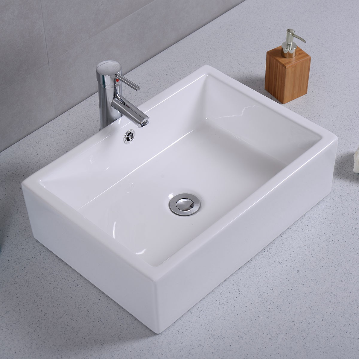 rectangular bathroom sink topmount 20 quot ceramic bathroom sink rectangle vessel bath deck mount 20115