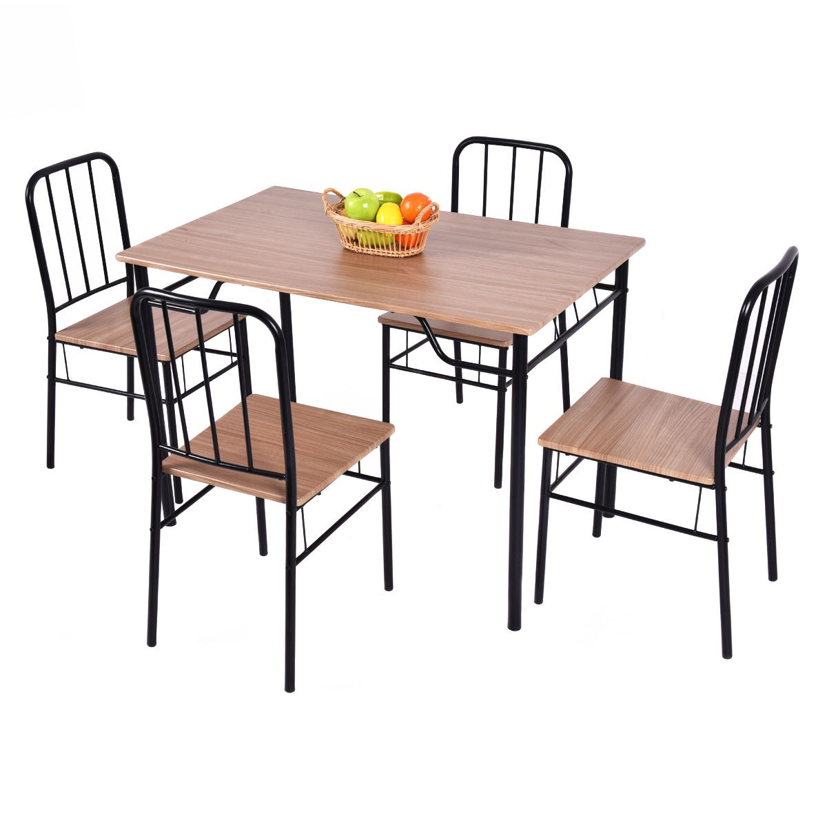 5 piece dining set table and 4 chairs with 2 slide out for 4 piece dining table