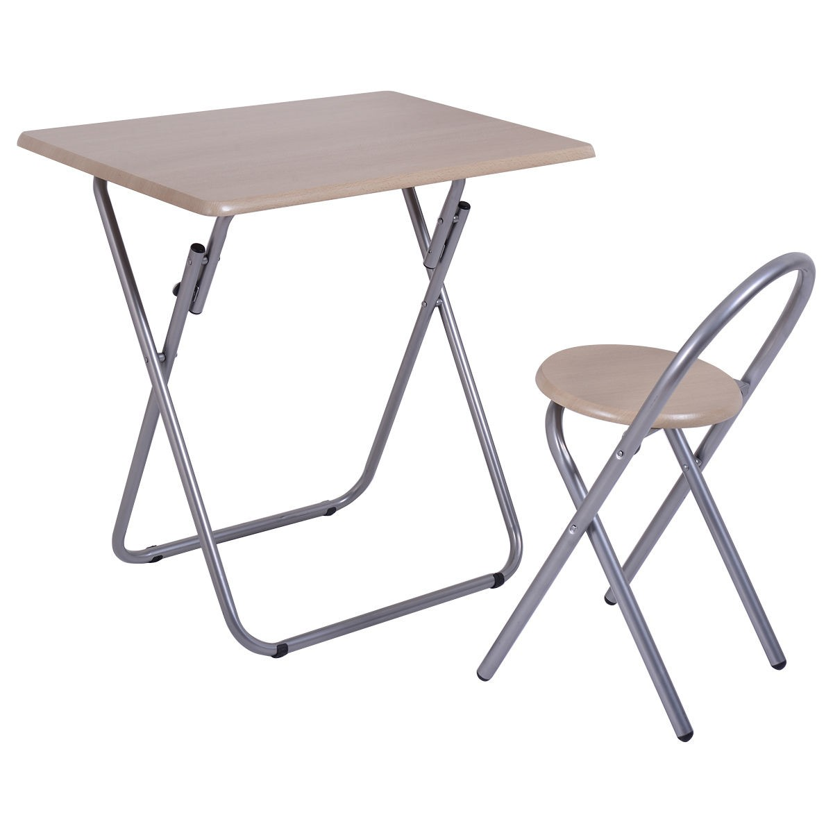 Portable Study Room Writing Desk Table Chair Set Folding