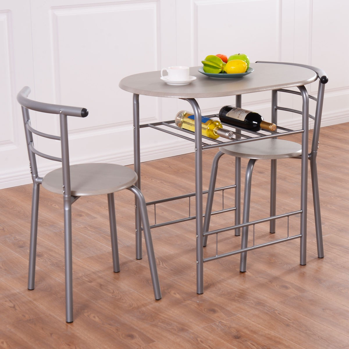 Small bistro table set for kitchen 3 bistro set table 2 for Compact kitchen table set