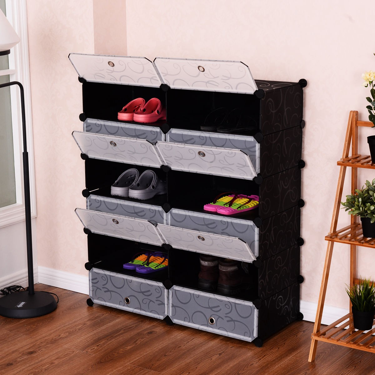 living room shoe rack living room 12 cubes shoes pp rack shelf storage cabinet 15207