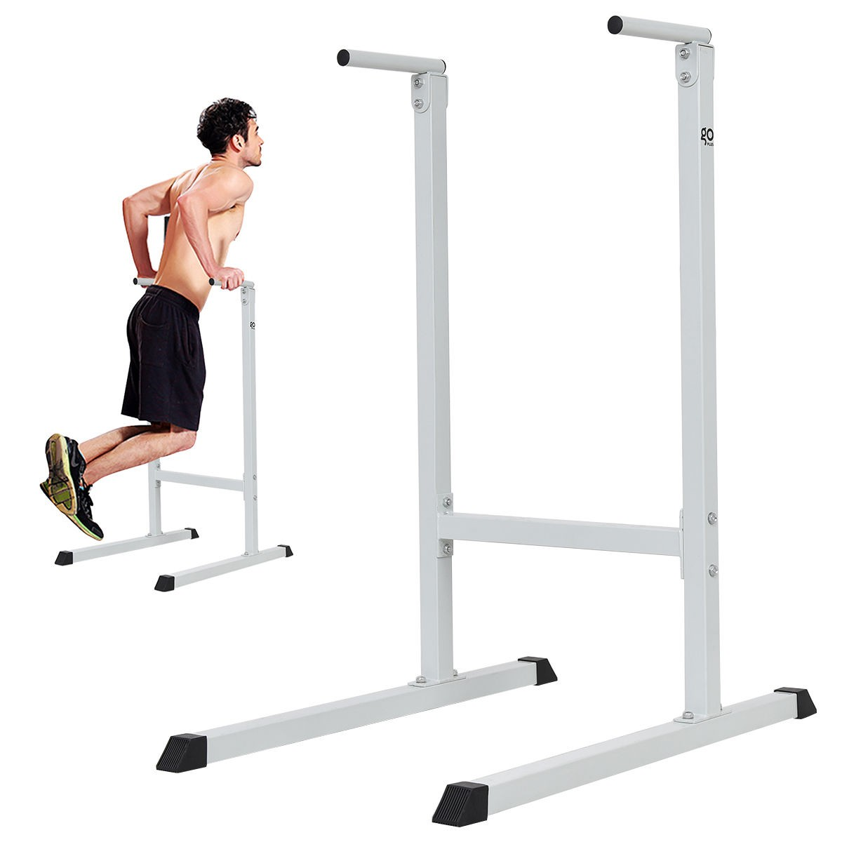 e2007f115f5 Its sleek black powder finish will make it a great addition to any home gym.  Start pumping up those shoulders and triceps with this new dip station.