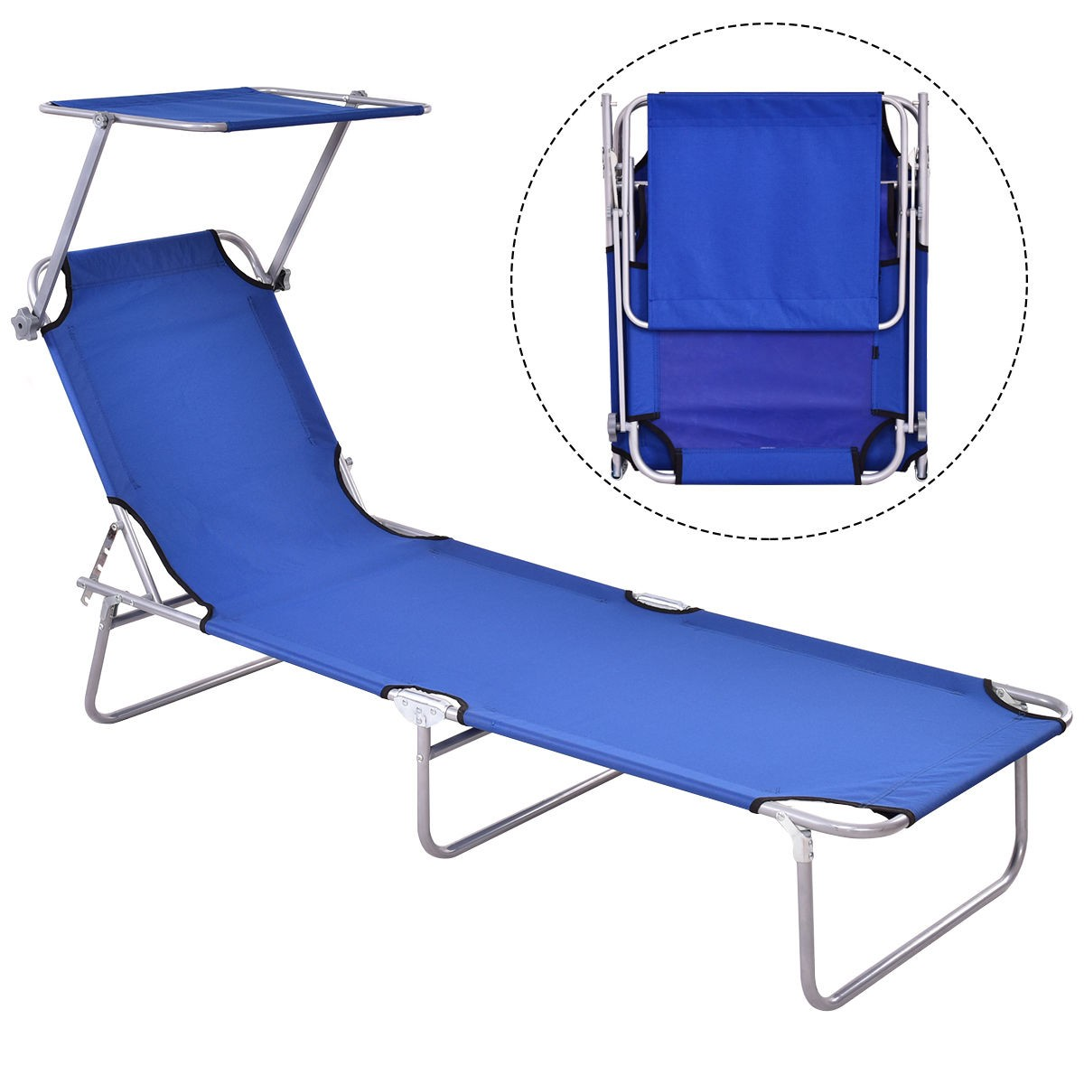 Chaise Lounge Beach Chair Bed Camping