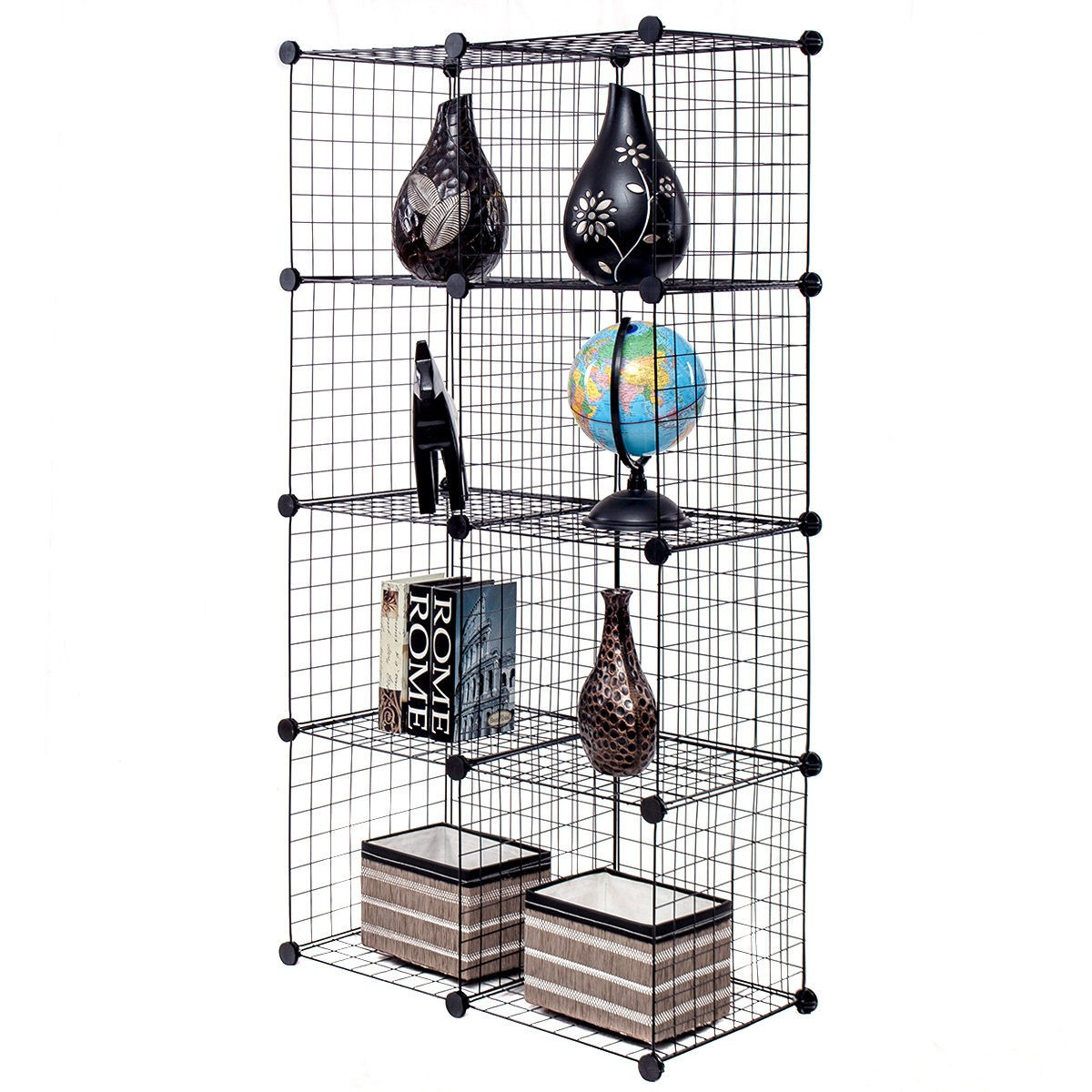 Do It Yourself Home Design: DIY 8 Cubes Grid Wire Storage Bookcase Display Home