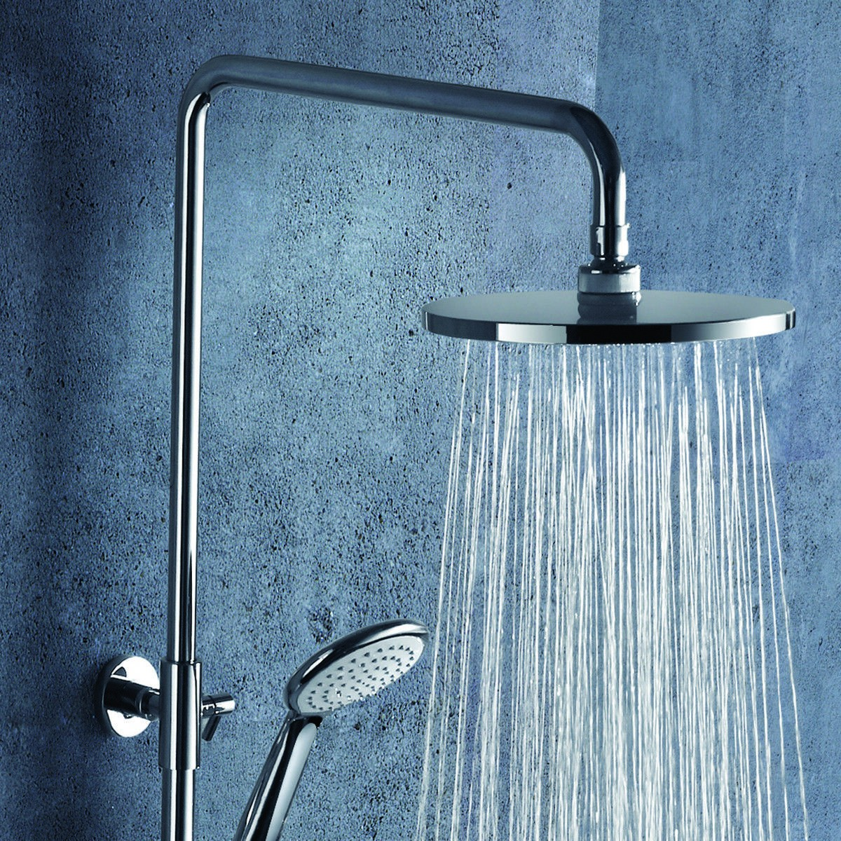 Stainless Steel Panel Rainfall Shower Column Set With Hand Shower ...