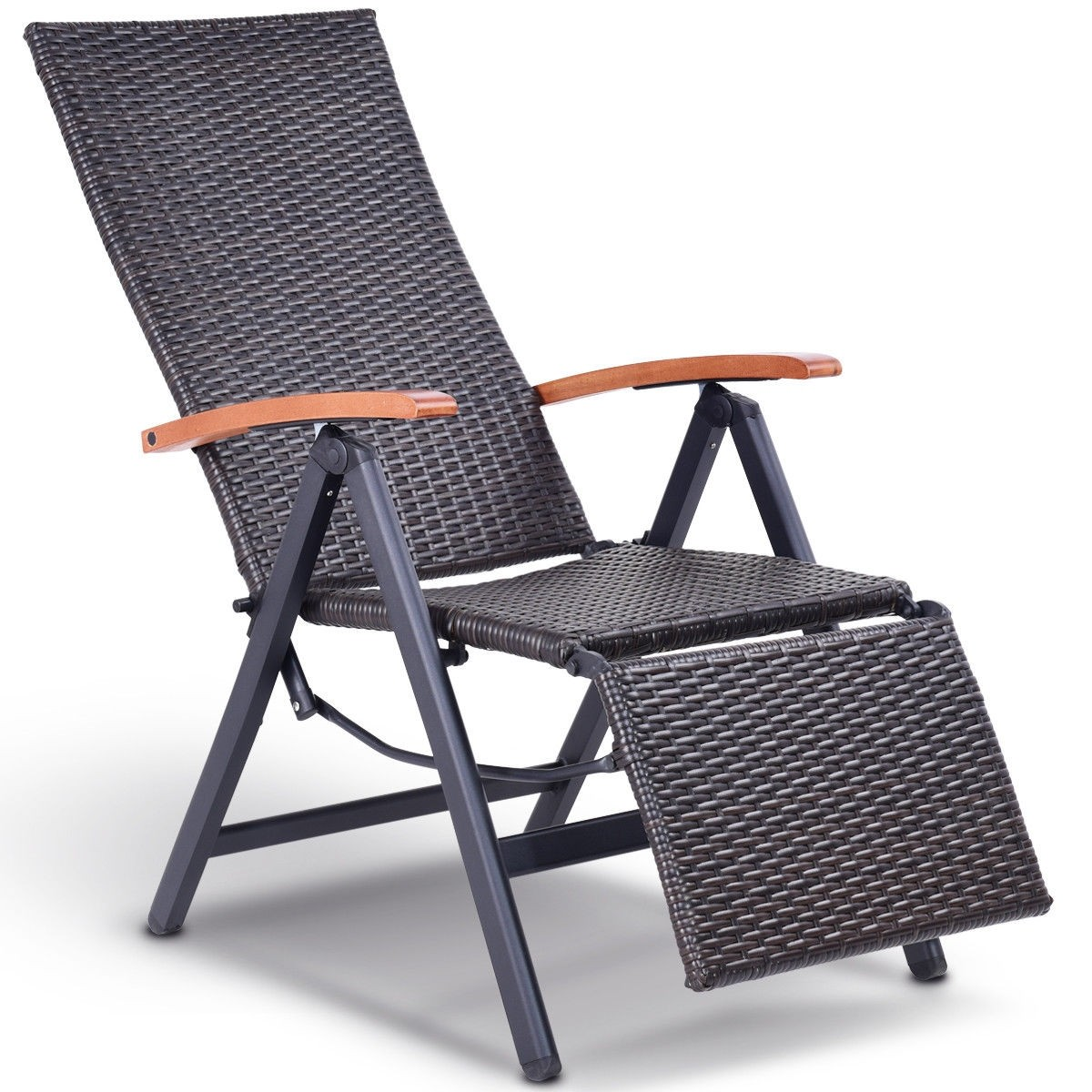 Outdoor Patio Folding Wicker Rattan