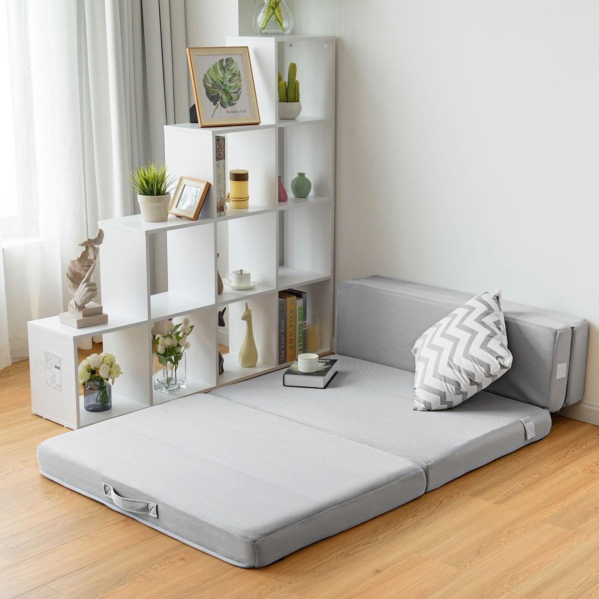 Details About Folding Mattress Sofa Bed Futon Couch Lounger Foam Sleeper Chair Queen Full Twin
