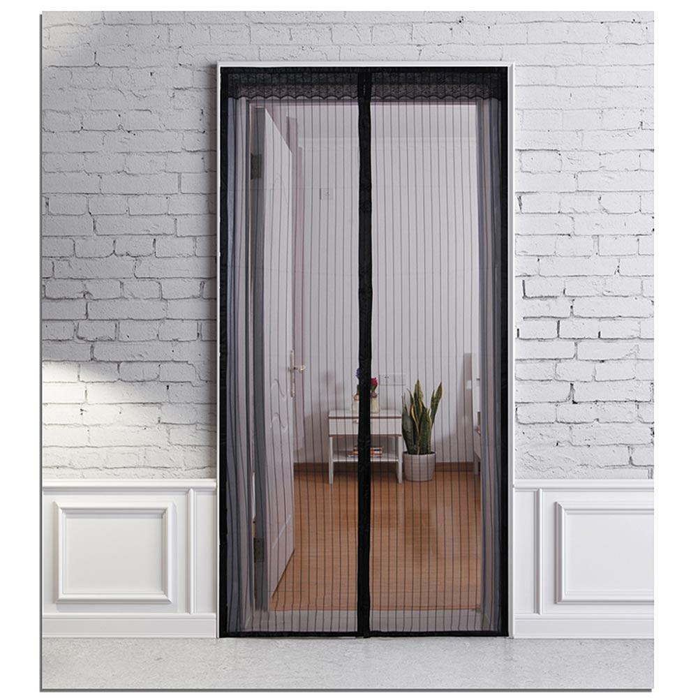 magic mesh moskitonetz magnete fliegengitter fliegen vorhang t r 210 100cm black ebay. Black Bedroom Furniture Sets. Home Design Ideas