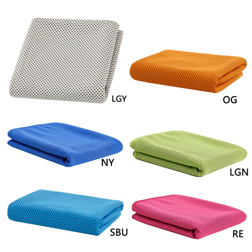 Orange Sweat Towels: Fashion Creative Sport Cooling Towel Sweat PVA Hypothermia