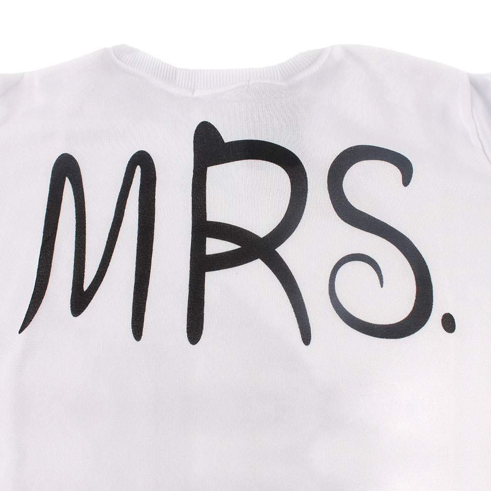 long sleeve sweatshirts mr mrs letter print pullover. Black Bedroom Furniture Sets. Home Design Ideas