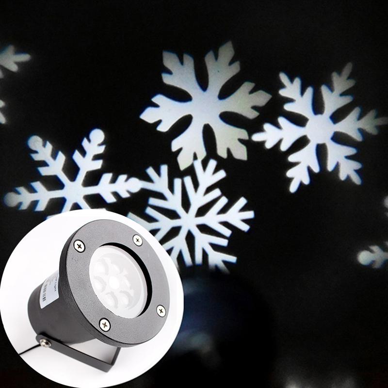 Navidad laser luz proyector con estrella copo de nieve al for Estrella de nieve