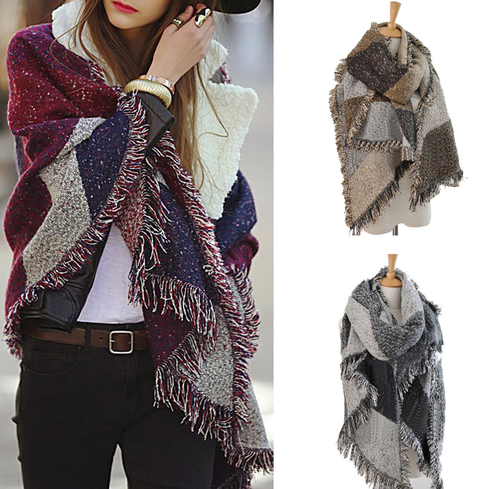 UK Women Lady Nice Warm Cashmere Scarf Long Pashmina Shawl Wrap Scarf Hot UKPOST