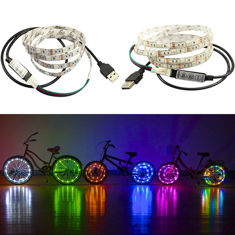 1M USB Charge LED Light Strip Tape Xmas Lighting DIY Lamp Camping