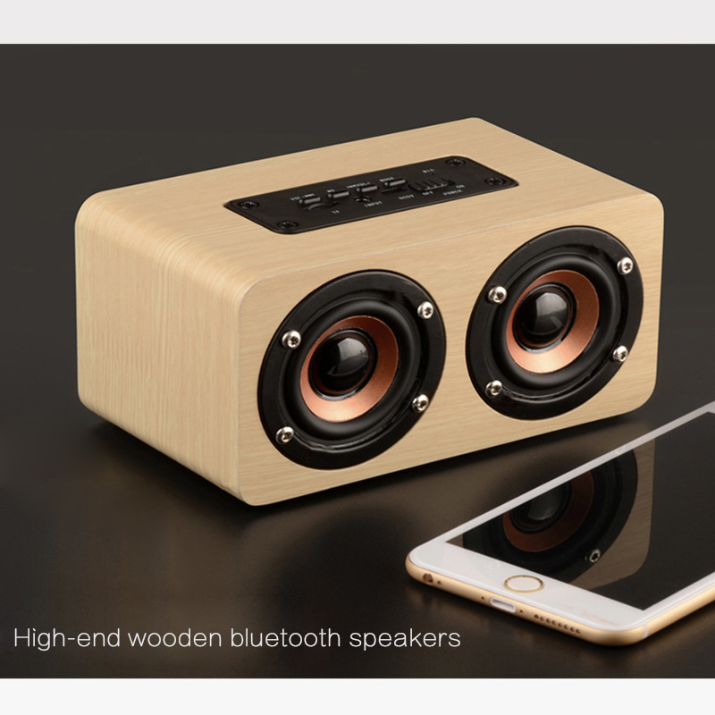 lautsprecher box bluetooth speaker usb tf akku bass wireless kabellos typ holz ebay. Black Bedroom Furniture Sets. Home Design Ideas