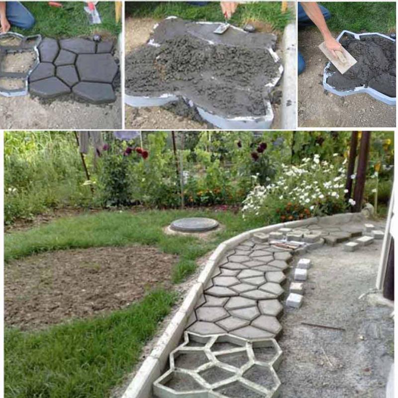 Pavimento losas de hormig n molde ladrillo patio camino jard n caminar ebay - Pavimento jardin ...