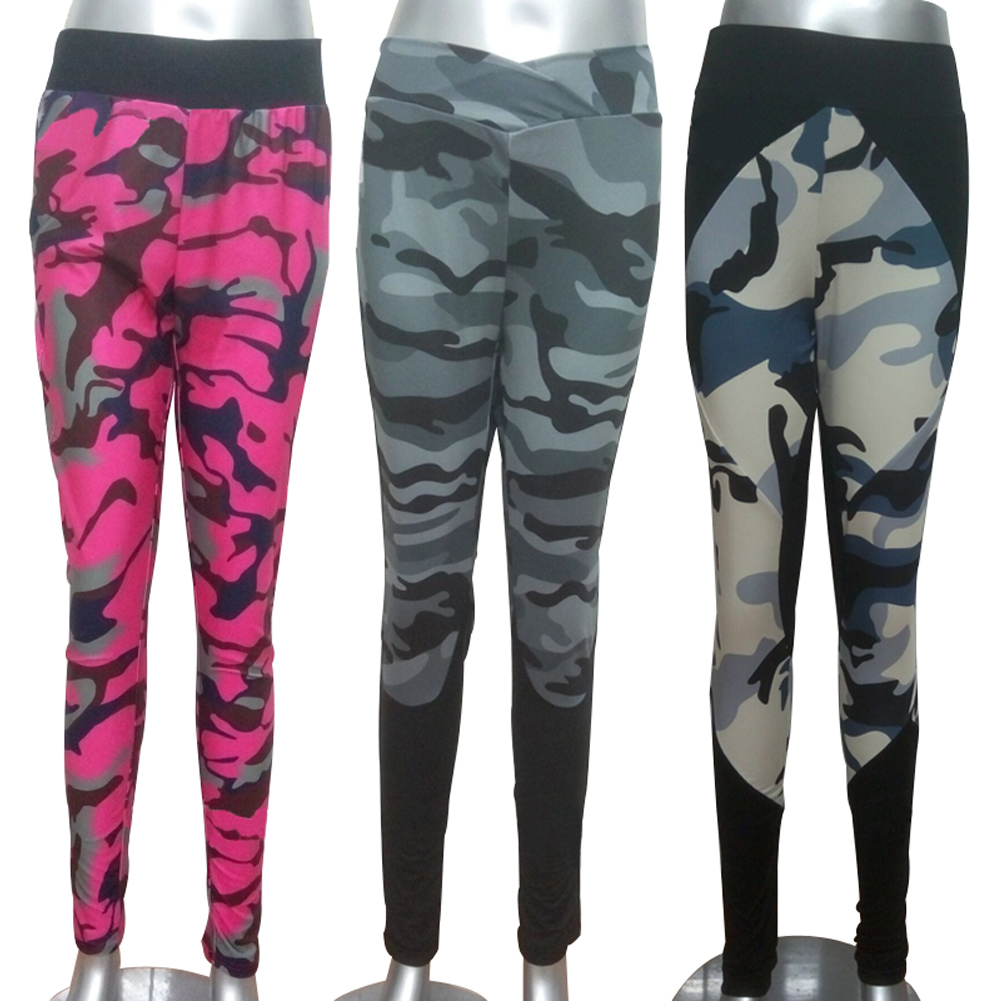 Fitness Leggings Camo: Women Sports Camouflage Gym Tight Yoga Running Fitness