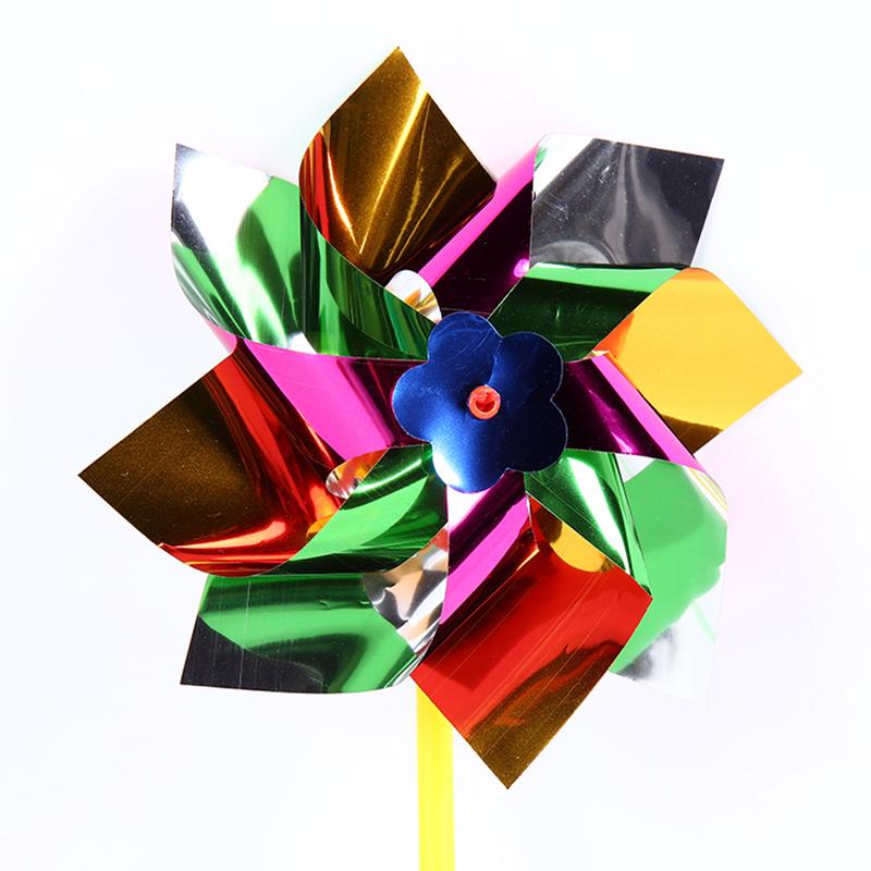 3pcs diy moulin vent plastique pinwheel jouet enfant pelouse jardin ext rieure ebay. Black Bedroom Furniture Sets. Home Design Ideas