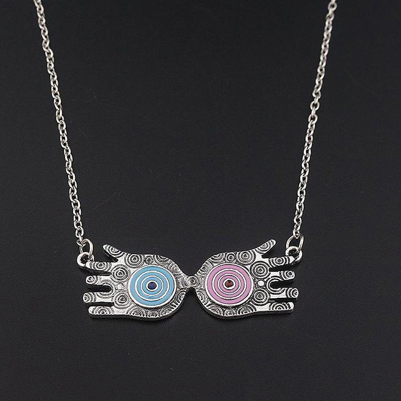 Harry Potter Choker Eye Luna Lovegood Glasses Alloy Pendant Necklace 1//2//5PCS