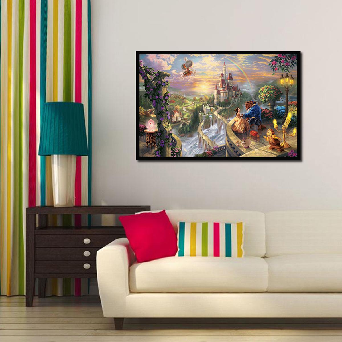 peinture huile toile paysage belle b te art mural d cor salon maison bureau mode. Black Bedroom Furniture Sets. Home Design Ideas