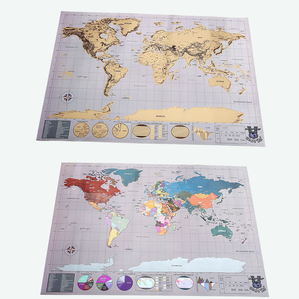 1pc travel edition scratch off world map poster personalized the deluxe edition is better wrapped better choice for gift giving map dimensions 582x833cm materialpaper colored aluminum laminate gumiabroncs