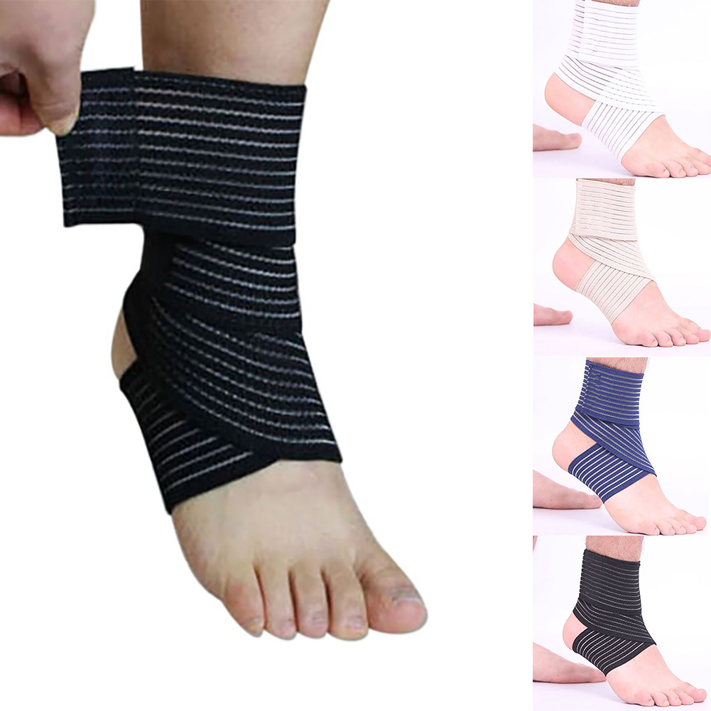 Sport Elastic Ankle Support Foot Compression Wrap Bandage