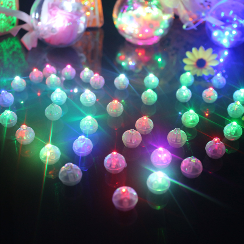 Details About 100pc Mini Round Ball Led Balloon Lights Flash Lamps For Lantern Christmas Decor