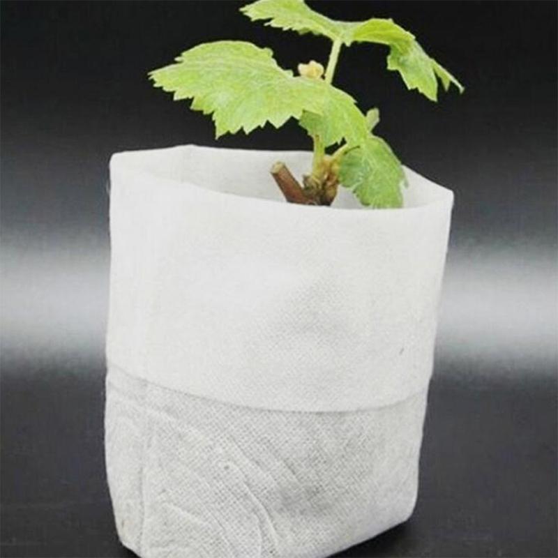 100PCS pépinière plante sac organique sac de plantation tissu sac de plantation