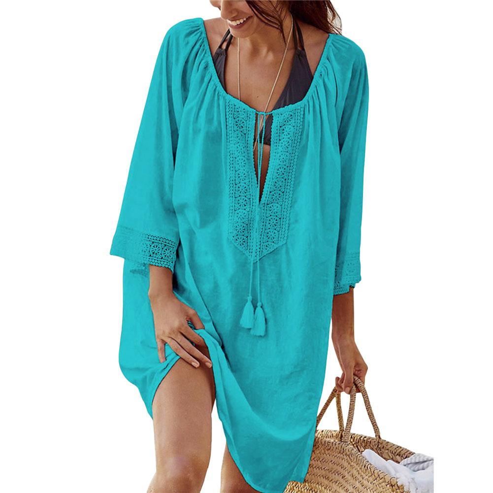 50c15f9198c85 Details about Women Tunics Beach Women Swimsuit Swimwear Pareo Cover up  Beachwear Dress Gift