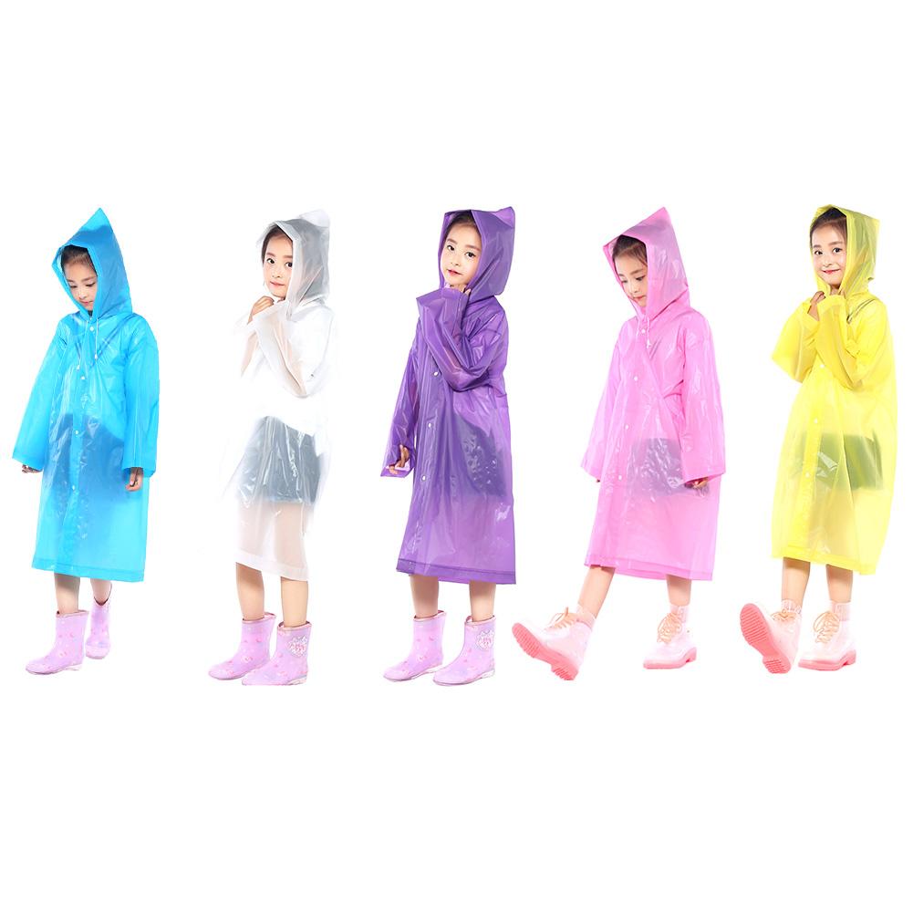 009585f01fc5 Waterproof Portable PVC Lightweight Reuseable Raincoat Baby Girls ...
