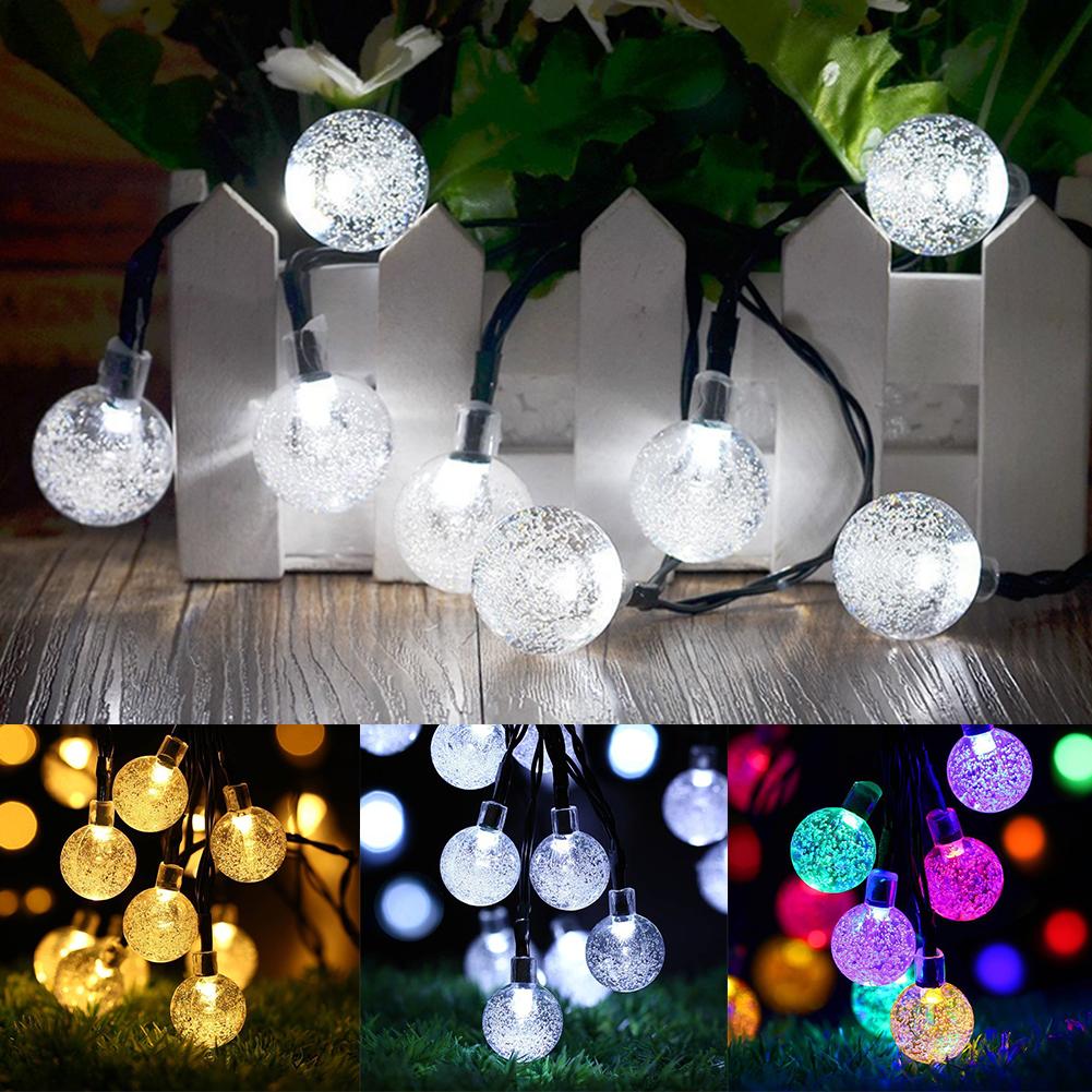 DEL rêve des boule de cristal boule de cristal 6 cm Blanc chaud boule lumineuse