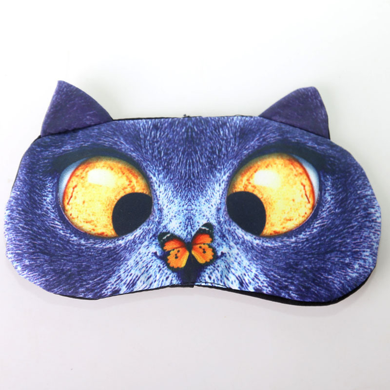3D Masque Sommeil Animal Repos Yeux Glace Dort Anti-Lumière Protect Relaxation