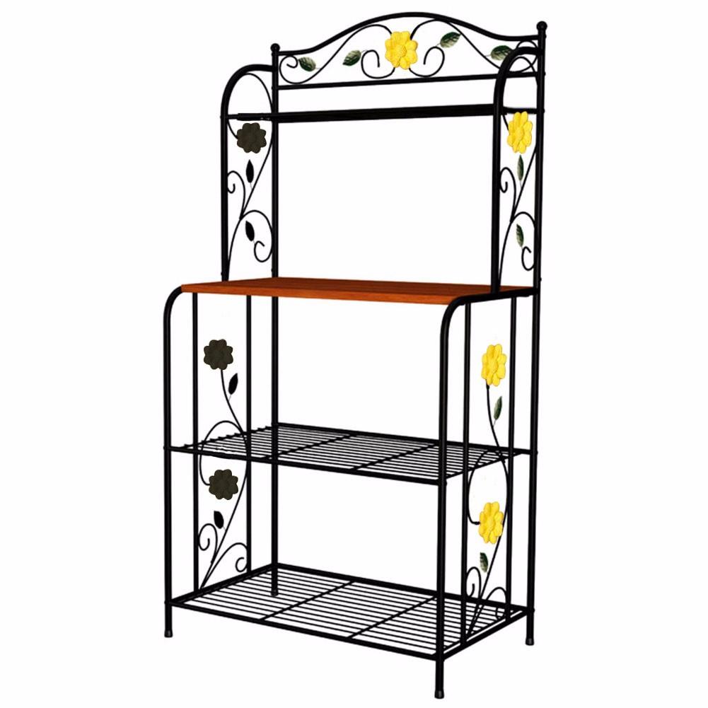 vintage kitchen baker 39 s rack microwave oven stand storage cart workstation shelf ebay. Black Bedroom Furniture Sets. Home Design Ideas