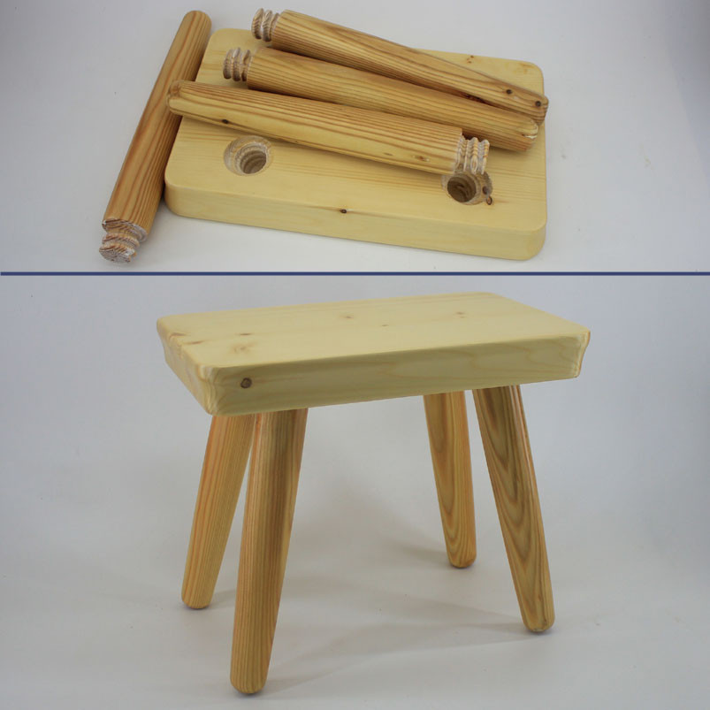 Portable kids flip step stool chair seat wood wooden