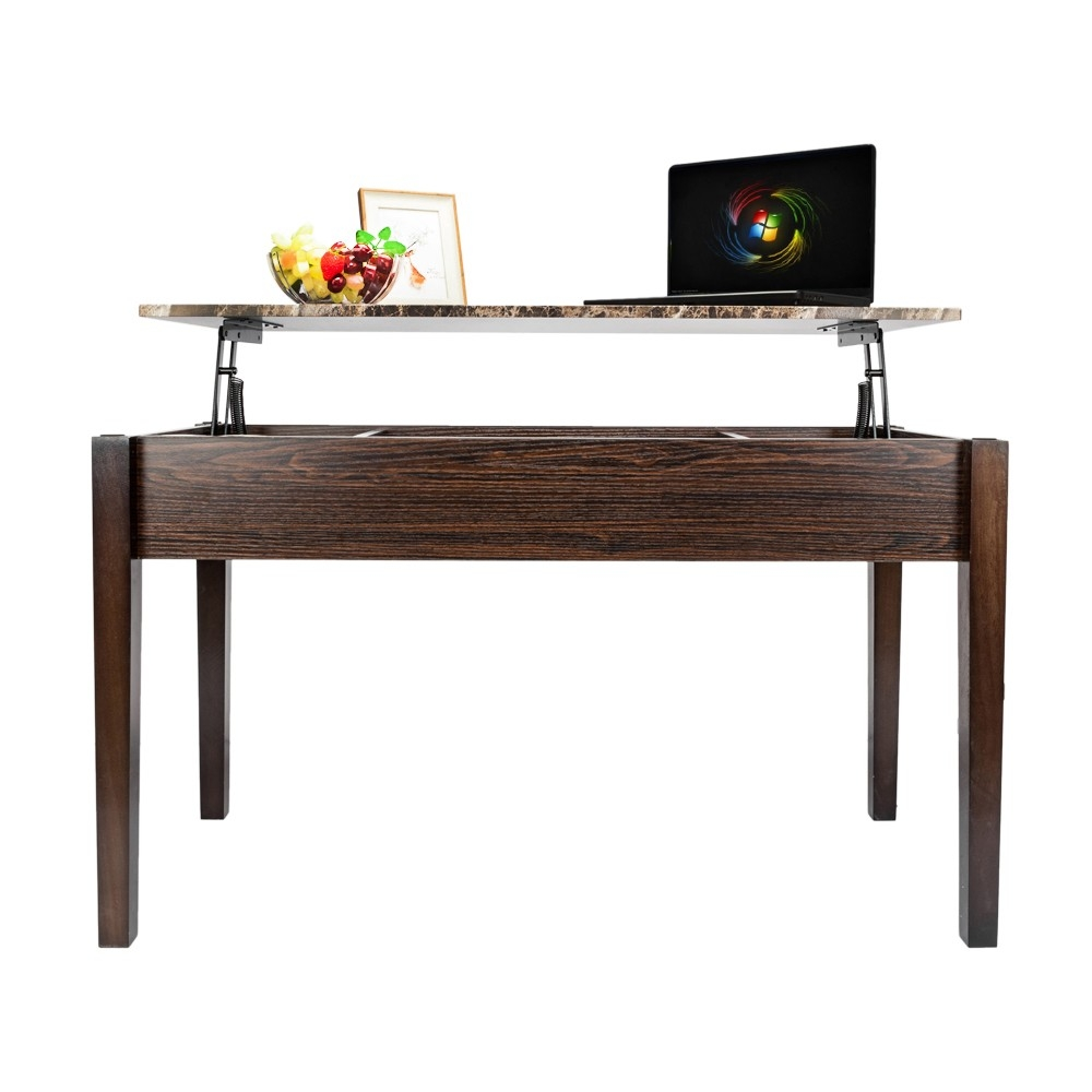 Pop Up Coffee Table.Details About Lift Top Coffee Table Pop Up Espresso Workstation Storage Living Room Furniture